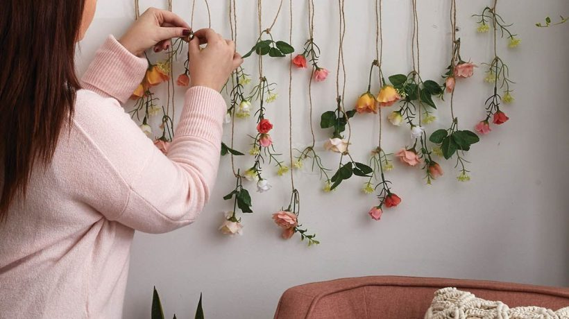 Beautiful flower wall décor ideas and techniques