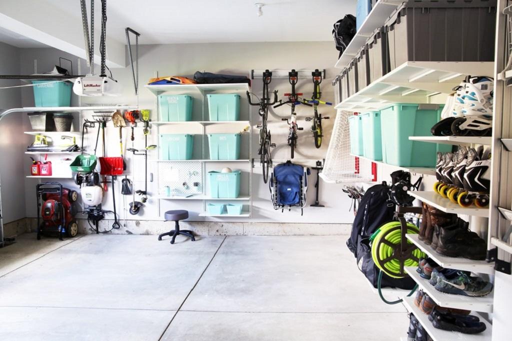 organize a messy garage